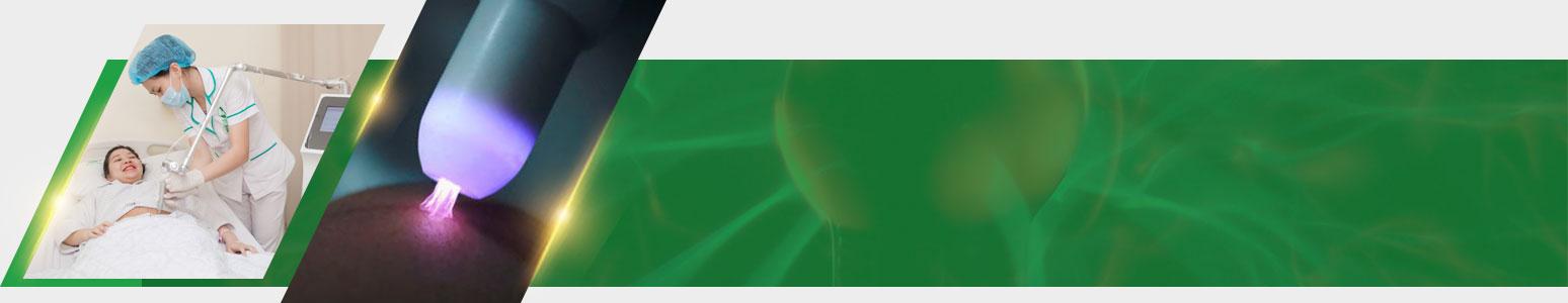 chiếu đèn Plasma phục hồi vết mổ sau sinh