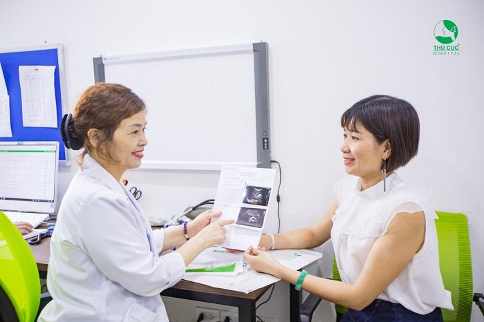 Để điều trị khô rát âm đạo triệt để, chị em nên tới Bệnh viện ĐKQT Thu Cúc để được các bác sĩ chuyên khoa đầu ngành thăm khám và tư vấn cách điều trị phù hợp