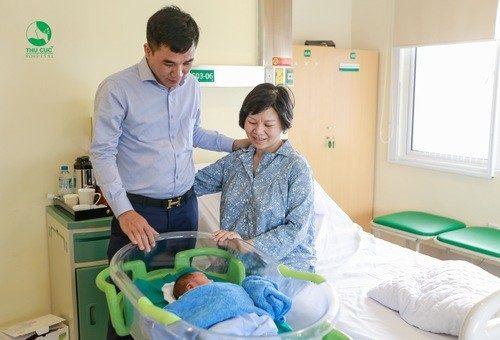 Phòng chăm sóc sau sinh đầy đủ các tiện nghi.