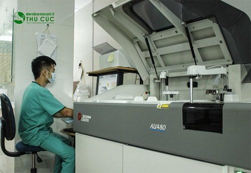 Máy sinh hóa AU 480 nhập khẩu Đức – một dòng máy hiện đại bậc nhất hiện nay.
