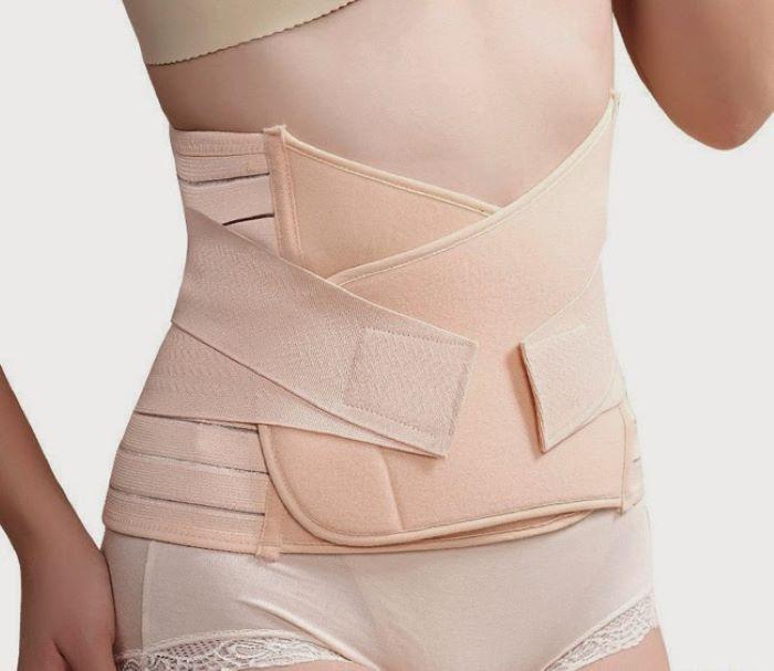 Để nịt bụng an toàn, hiệu quả mẹ nên đợi khi vết mổ lành hẳn, không còn cảm giác đau khi sờ vào