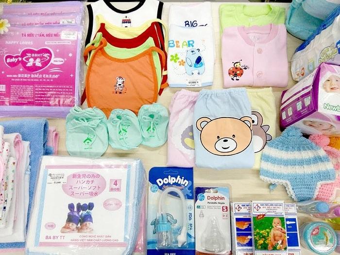 Mẹ bầu thường loay hoay với vấn đề chuẩn bị đồ trước khi sinh