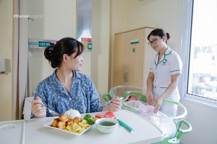 Chăm sóc sau sinh tại bệnh viện ĐKQT Thu Cúc