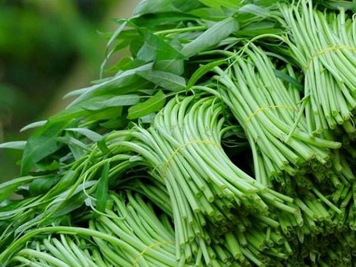 tác dụng của rau muống sau sinh