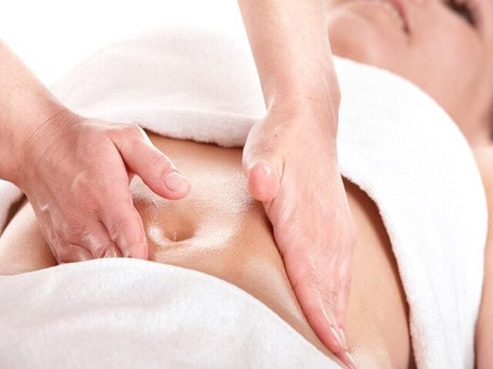 Massage giúp giảm kích thước vòng bụng sau sinh mổ hiệu quả