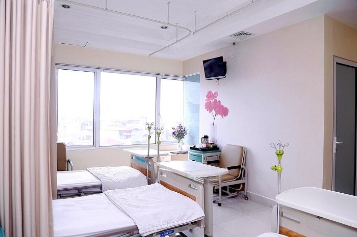 Phòng lưu viện đầy đủ tiện nghi theo tiêu chuẩn khách sạn