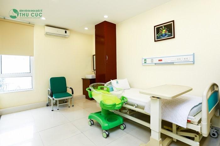 Phòng lưu viện tiện nghi, thoải mái tại bệnh viện ĐKQT Thu Cúc