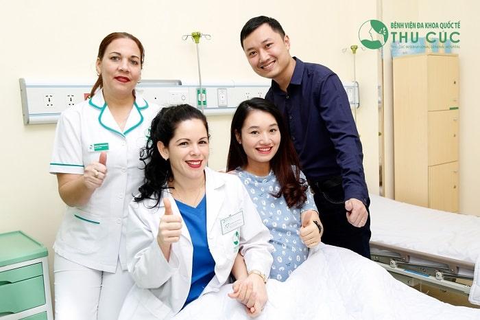 Bệnh viện ĐKQT Thu Cúc được nhiều mẹ bầu tin tưởng lựa chọn để khám thai và sinh con