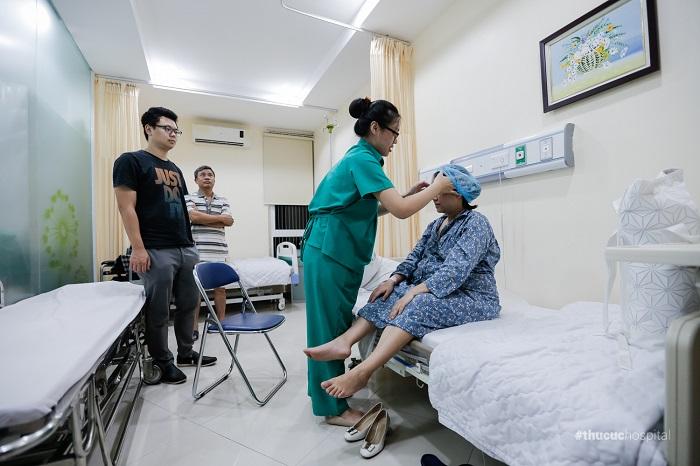 Tôi được chăm sóc rất tận tình kể từ khi nhập viện sinh