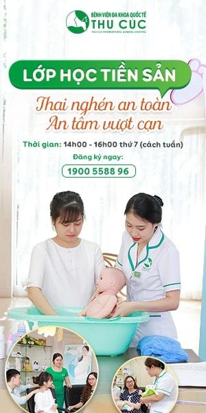 lớp học tiền sản tại bệnh viện Thu Cúc