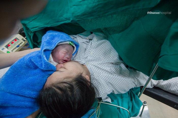 mổ đẻ kết hợp cắt vách ngăn tử cung ở Thu Cúc