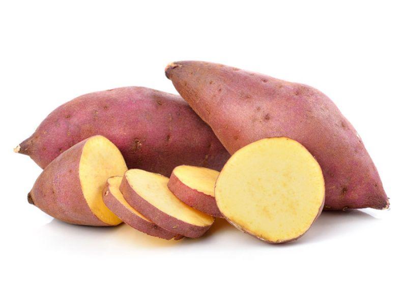 Khoai lang vàng vỏ tím chứa chất caiapo có tác dụng làm giảm đáng kể lượng đường huyết