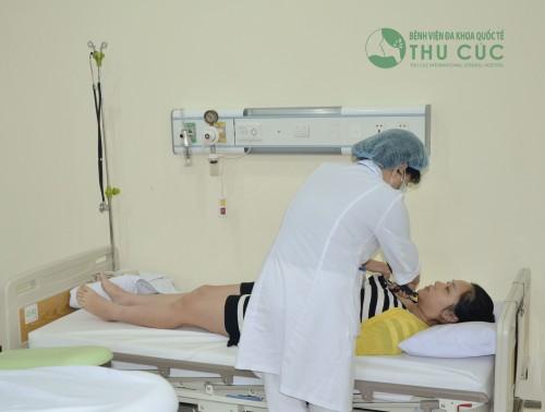 Khám thai tại Bệnh viện Đa khoa Quốc tế Thu Cúc.