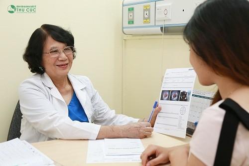 Chị em nên thăm khám bác sĩ sản phụ khoa để xác định đúng nguyên nhân và được tư vấn thuốc điều trị tốt nhất