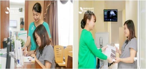 Quá trình thăm khám thai tại Bệnh viện Thu Cúc luôn khiến mẹ Ngọc Tú cảm thấy thoải mái dễ chịu bởi đội ngũ điều dưỡng viên, nhân viên của Bệnh viện rất nhiệt tình, chu đáo.