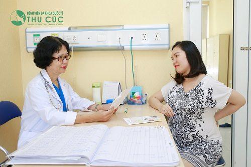 Khám thai và chuẩn bị hồ sơ sinh tại Bệnh viện Đa khoa Quốc tế Thu Cúc.