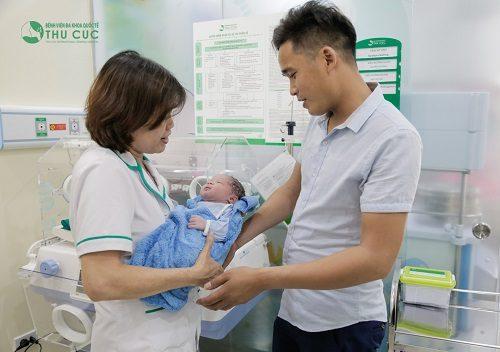 Em bé ra đời tại Bệnh viện Đa khoa Quốc tế Thu Cúc.