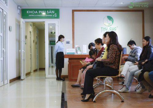 Nhiều chị em tin tưởng lựa chọn khoa sản Bệnh viện Thu Cúc là địa chỉ khám thai và sinh nở.