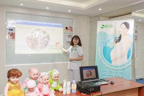 Lớp học tiền sản Bệnh viện ĐKQT Thu Cúc: Thai nghén an toàn – An tâm vượt cạn