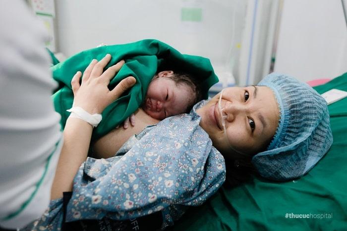 Tại Bệnh viện ĐKQT Thu Cúc nhiều ca sinh thường đã vượt cạn an tâm